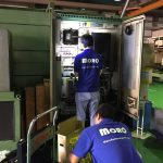 工作機械サーボアンプ交換作業