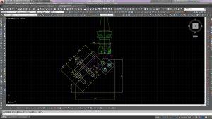 加工治具設計モデル 2次元CAD (干渉及び寸法確認)