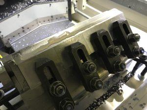 テストカット 治具強度、加工安定検証