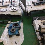 ローラー軸部の部品製作と修理